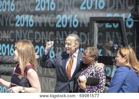 Senator Schumer with DNC delegates
