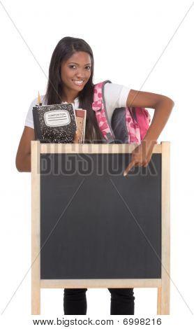 Estudante de colégio de americano Africano por Blackboard