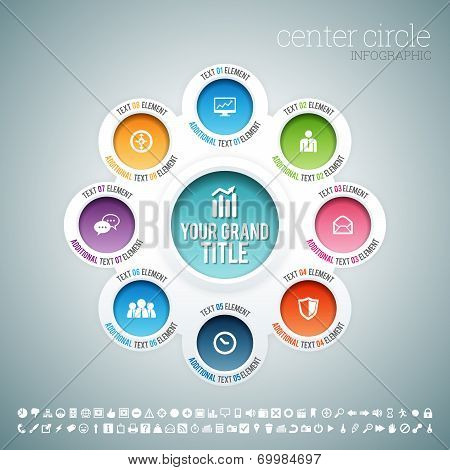 Center Circle Infographic