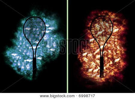 Tennis Rackets On Ice And Fire