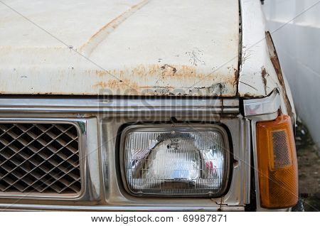 Rusting Car Headlight