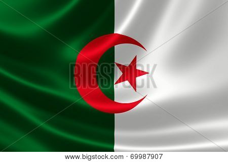 Close-up Of Algeria's Flag