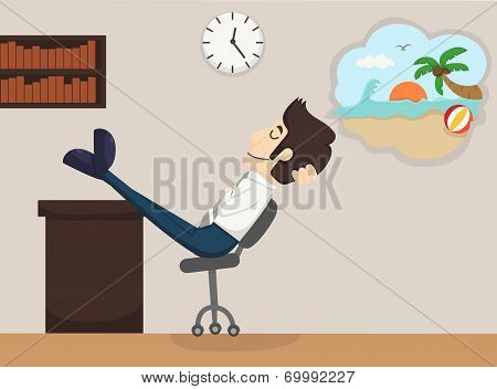 Businessman Relax Dream