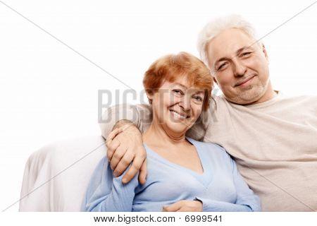 glücklich verheiratetes Paar