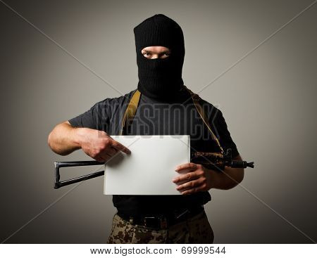 Gunman Is Holding White Paper