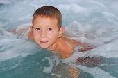 Boy In A Jacuzzi poster