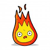 stock photo of fireball  - cartoon friendly fireball - JPG