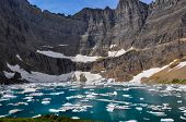 picture of iceberg  - Iceberg Trail In Glacier National Park - JPG