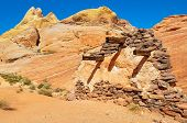 foto of valley fire  - Execution Wall In Valley Of Fire Provincial Park - JPG
