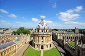image of neo-classic  - Elevated view of Radcliffe Camera and surrounding buildings Oxford Oxfordshire England UK Western Europe - JPG