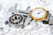 image of bearings  - Technical drawings with the Ball bearings - JPG