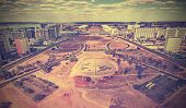 foto of brasilia  - Vintage retro style skyline of Brasilia City, Brazil