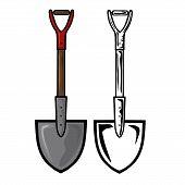 picture of shovel  - Vector illustration  - JPG