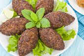 picture of oblong  - Kibbeh  - JPG