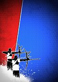 picture of archery  - Archery sport invitation advert background with empty space - JPG
