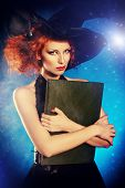 picture of sorcery  - Portrait of an enchanting witch woman - JPG