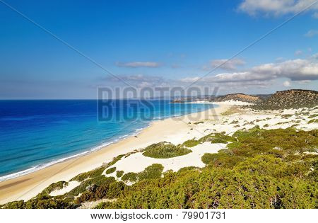 Golden Beach the best beach of Cyprus, Karpas Peninsula, North Cyprus
