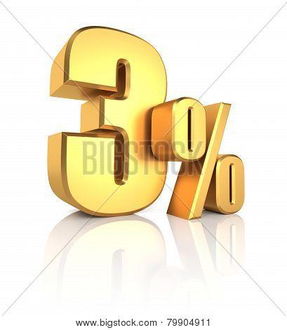 Gold 3 Percent