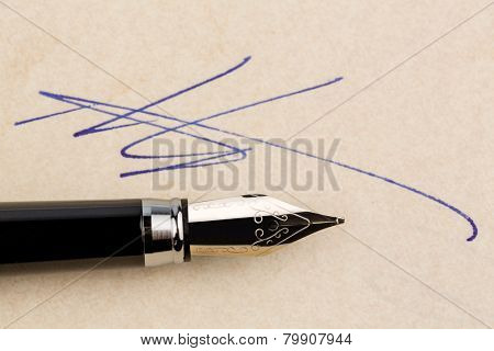 a contract or document shall be signed by hand with a fountain pen.
