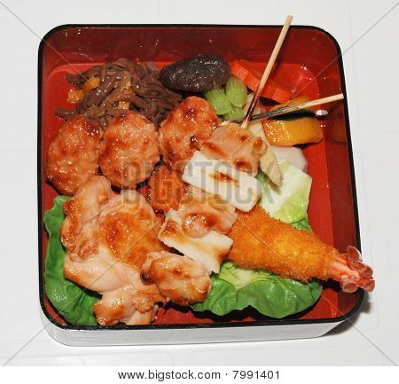 Asian Food, Plate With Seafood