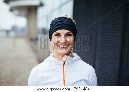 Cheerful Young Fitness Woman
