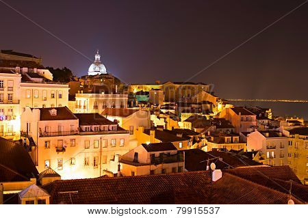 Alfama At Night, Lisbon