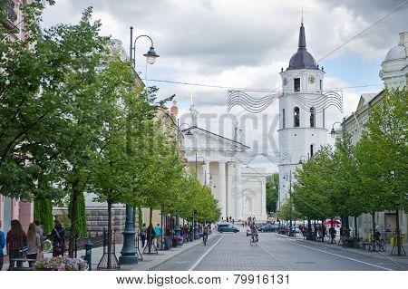 Gediminas Avenue in Vilnius, Lithuania