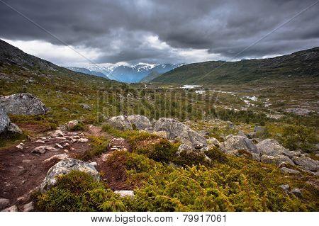 The Summer View Of Trolltunga In Odda, Ringedalsvatnet Lake, Norway