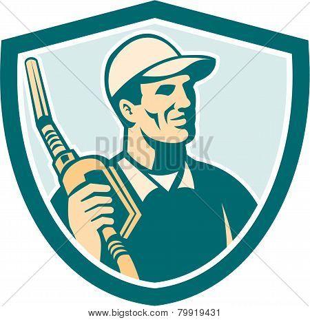 Gasoline Attendant Fuel Pump Nozzle Shield