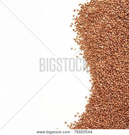 Buckwheat is sprinkled