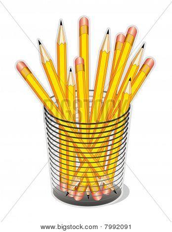 Gelbe Blei Bleistifte