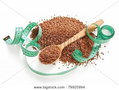 Heap of buckwheat groats