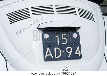 White Beetle Car