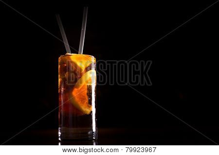 Cuba Libre Cocktail In A Tall Glass