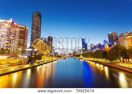 View of Yarra river in Melbourne, Australia