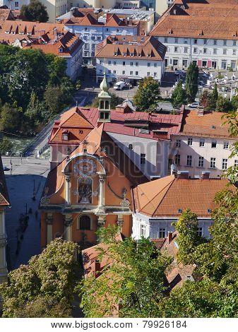 The Dreifaltigkeitskirche in Graz