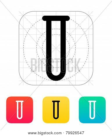 Empty test tube icon. Vector illustration.