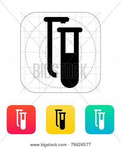 Test tubes icon. Vector illustration.