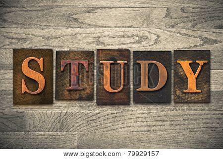 Study Concept Wooden Letterpress Type