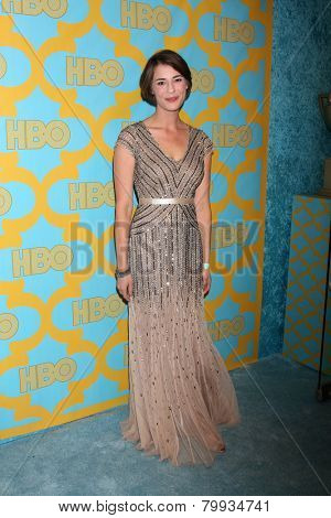 LOS ANGELES - JAN 11:  Rebecca Van Cleave at the HBO Post Golden Globe Party at a Circa 55, Beverly Hilton Hotel on January 11, 2015 in Beverly Hills, CA