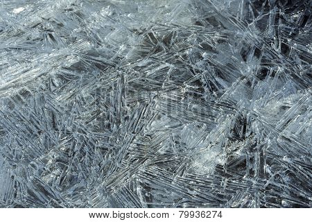sheet of ice, ice crystals