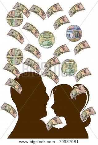 Money Raining Down On A Couple