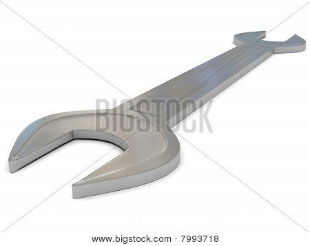 Iron Spanner Over White