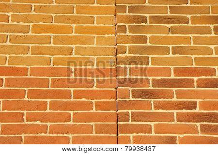 Wall With Cladding Tiles Imitating Bricks