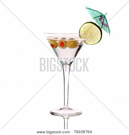 Martini, fresh Coctail isolated on white