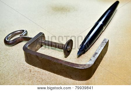 Pen And Clamp A