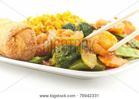 Szechuan Shrimp With Chinese Vegetables