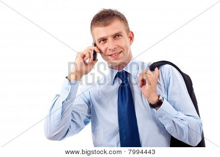 Young Businessman With Phone