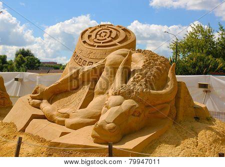Sand sculpture Festival.