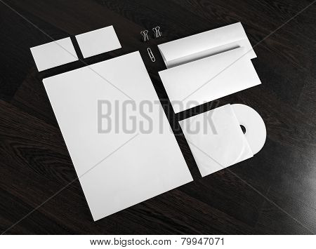 Id Template On Wooden Background